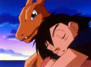 Ash y Charizard