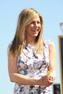 Jennifer Aniston Long Straight Haircut at the Hollywood Walk of Fame