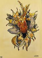 <ink, watercolor, ilustration, bird, partridge, Nuria Farre>