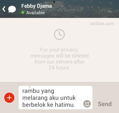 Form pesan - Cara Bermain dan Menggunakan Aplikasi Path Talk - Android