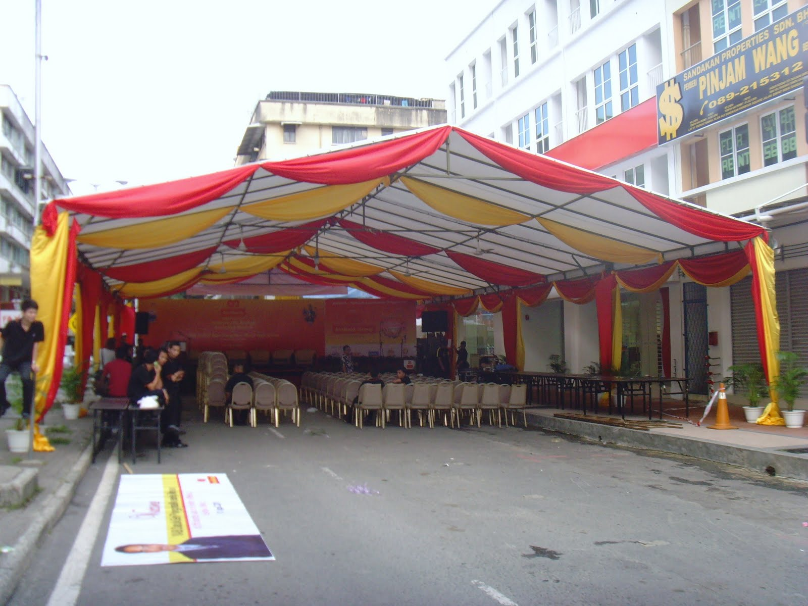 Tent Canopy u0026 Iron Roof for Hire & canopy rental in sandakansabah