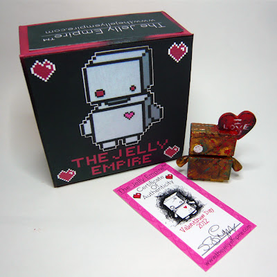 Zombie Valentine&#8217;s Day Jellybot Resin Figure & Packaging by The Jelly Empire