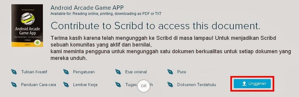 cara mengunduh dokumen Sribd gratis 2014