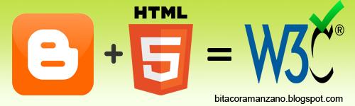 W3C Validar plantilla blogger en HTML5
