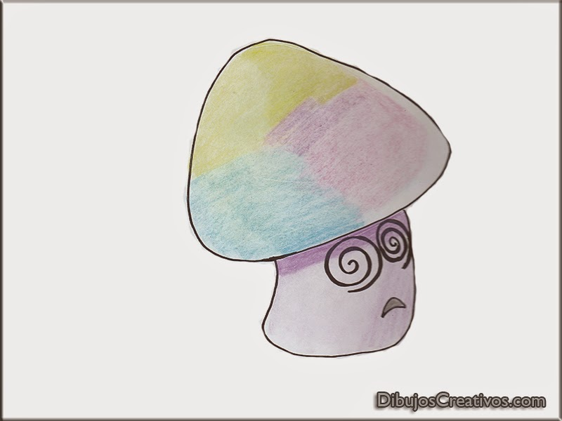 dibujos coloreados HYPNOSHROOM PLANTAS VS ZOMBIES
