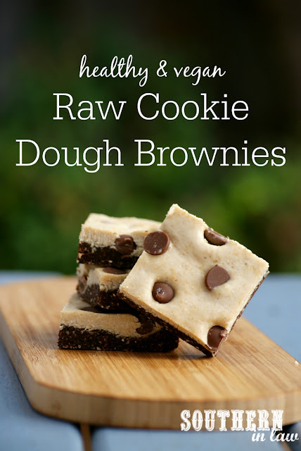 Raw Cookie Dough Brownie Recipe | raw, vegan, healthy, gluten free, clean eating friendly, refined sugar free, no bake