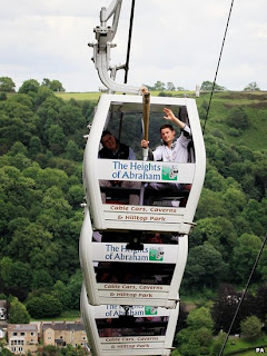 Next London Olympics 2012 : Olympic Flame to Travel on the Heights of Abraham Cable Car