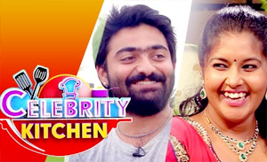 Actress Vinitha & Actor Maanas in Celebrity Kitchen