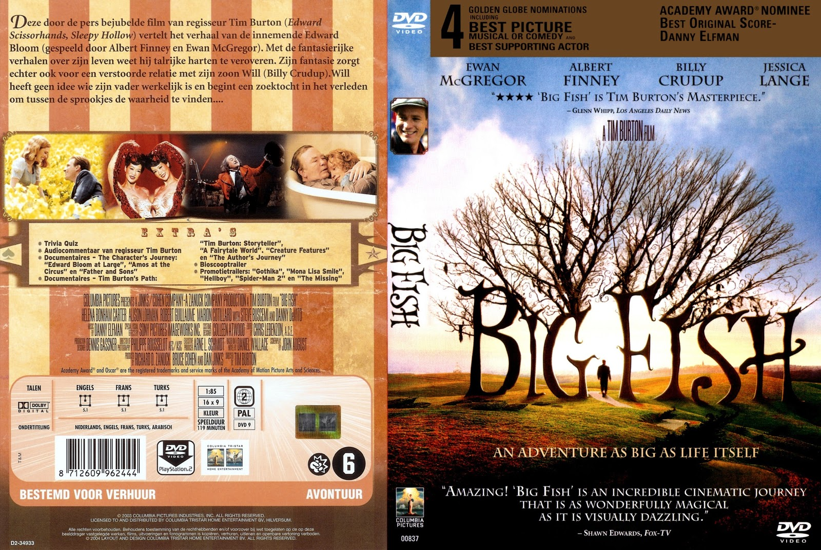 Big Fish Dvd Front back Cover