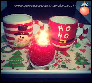 café da manhã de natal romântico