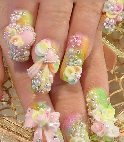 cute hello kitty nail designs. Bridal Design Nail Arts,