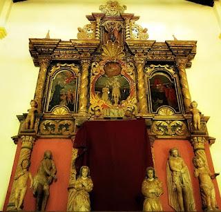 Retábulo da igreja da Redução Jesuítica de Santiago, Paraguai