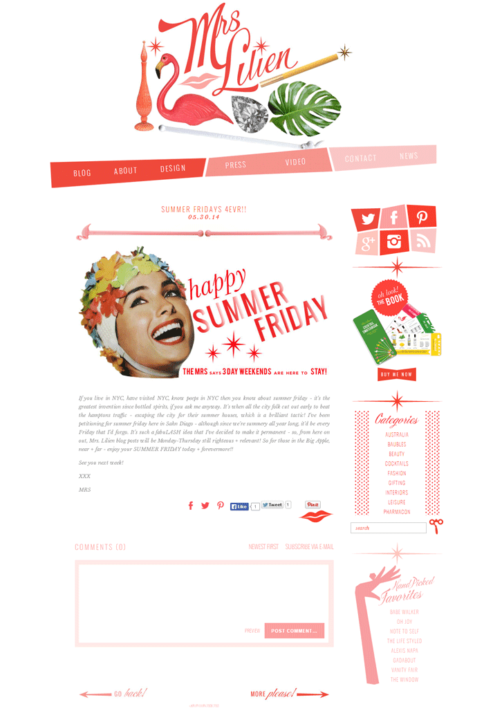 Blog Crush: Mrs. Lilien - yuniquelysweet.blogspot.com