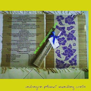 undangan pernikahan plismate mendong sablon