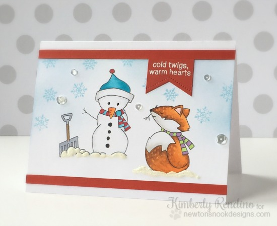 Newton's Nook Designs | snowman | fox | handmade card | kimpletekreativity.blogspot.com