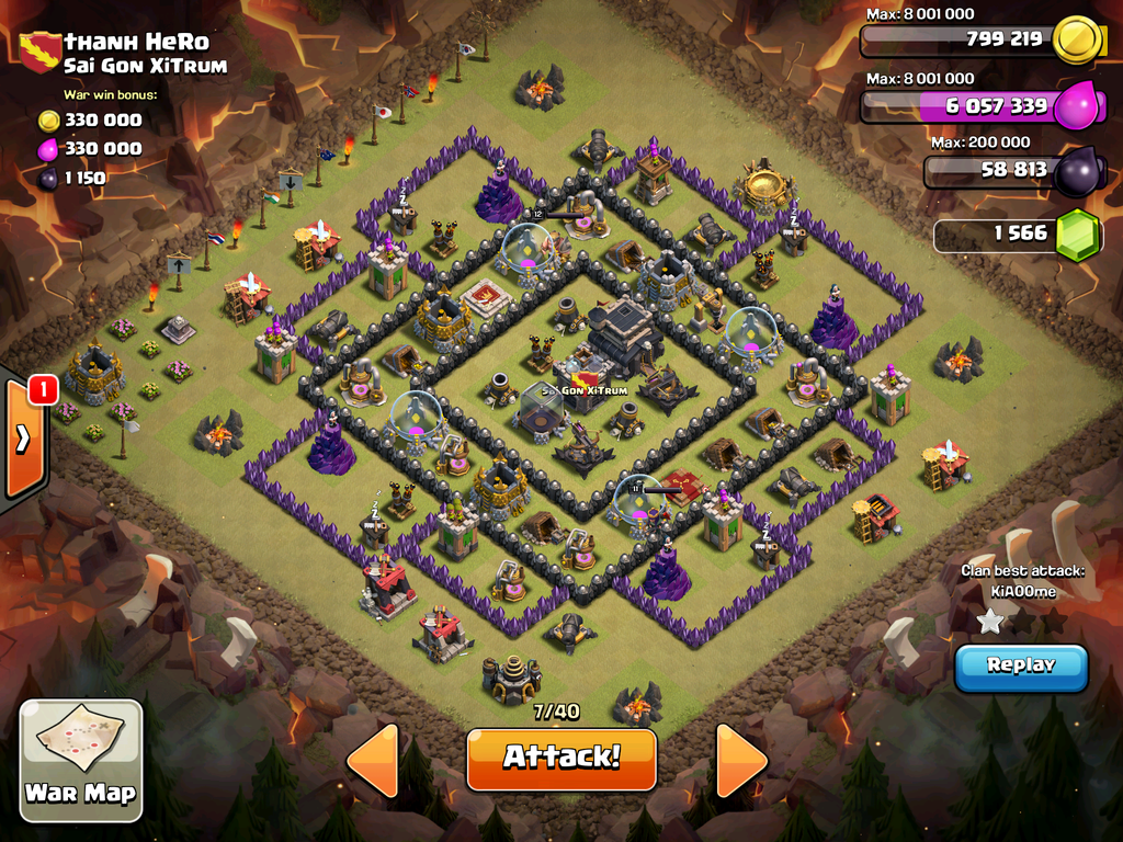 Awesome 5 of th9 war base with 4 motors and unlurable cc google