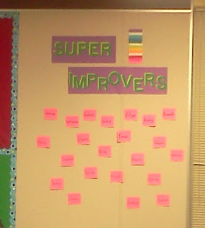 super improvers wall, whole brain teaching, whole brain teaching motivation, student motivation, wibbiters