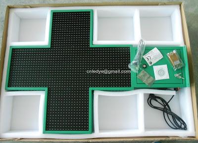 Pharmacy Cross ,green led, pharmacy sign