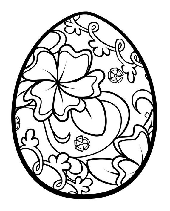 abstract easter egg coloring pages - photo#21