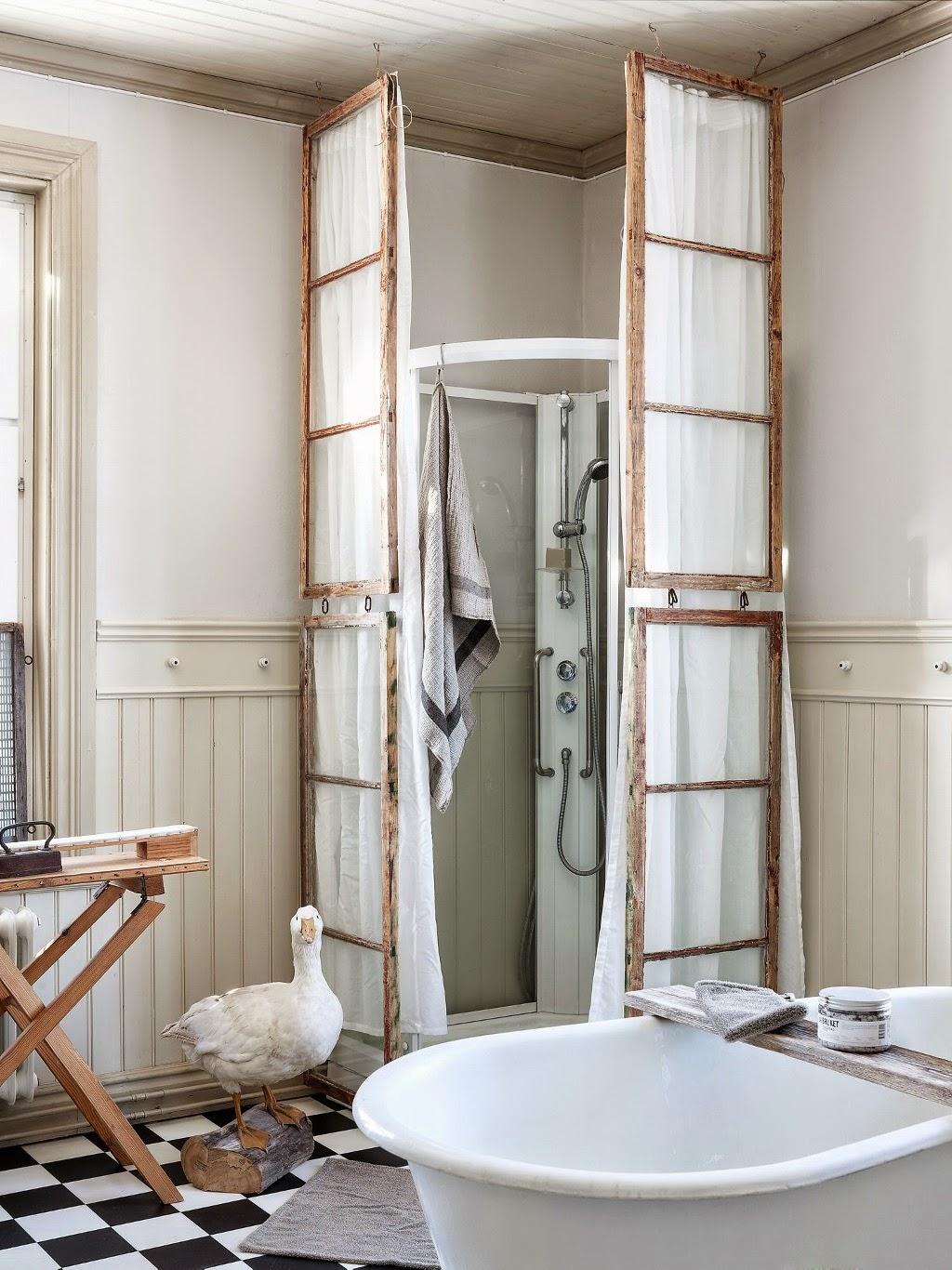 Cortinas De Baño Vintage:Vintage] Una reforma de baño en estilo vintage rústico