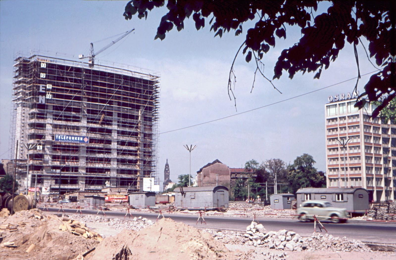 Baustelle Historisch, Ernst-Reuter-Platz, 10587 Berlin, 1950er Jahre