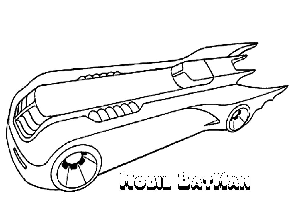 bat mobile coloring book pages - photo#14