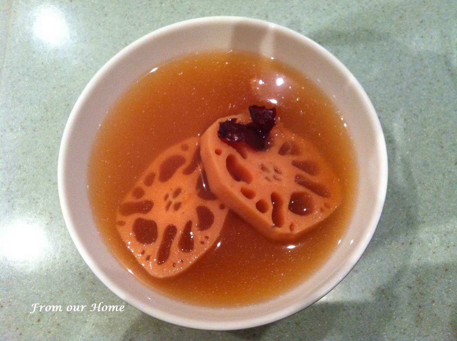 From Our Home: Fresh Lotus Root Soup