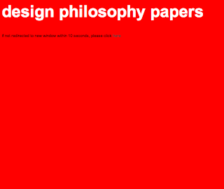 Architecture Design Philosophy alternative architecture lens: design philosophy papers