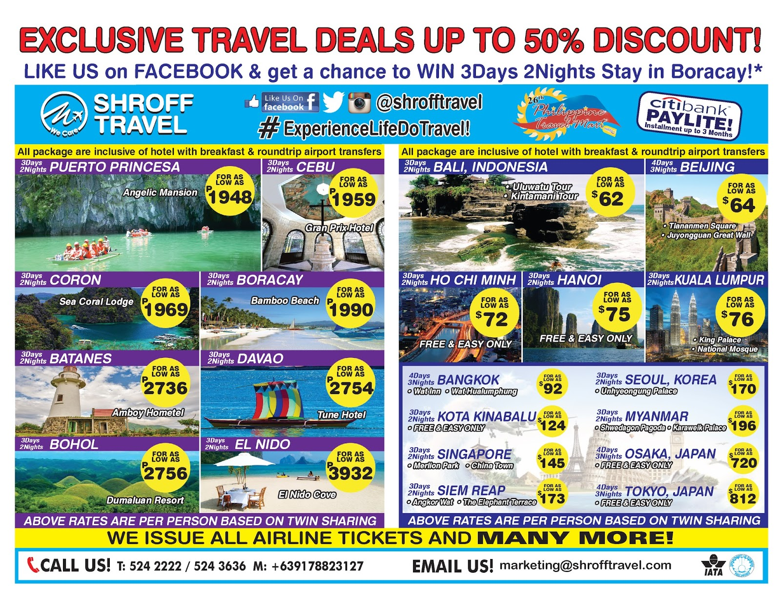 Shroff Travel Offers Exclusive Travel Deals Up to 50% ...
