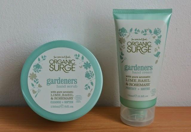 Organic surge gardeners hand scrub, Organic surge gardeners hand cream