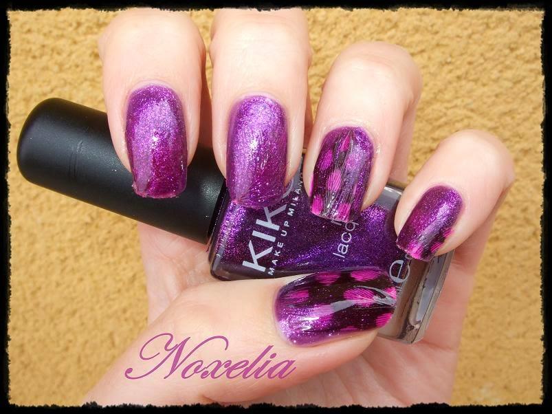Noxelia: Stamping nail art: Look de uñas Nº 226. Plumas