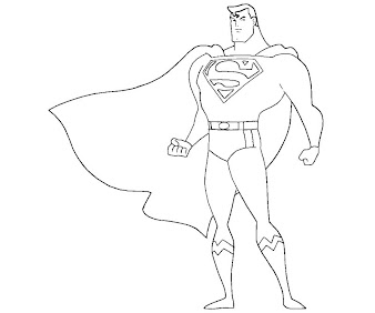 #5 Superman Coloring Page