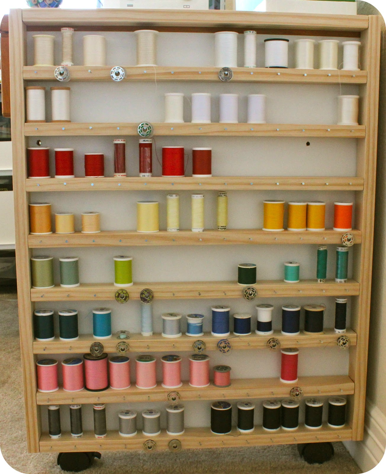 Crafters Wooden Sewing Thread Rack Plans Here