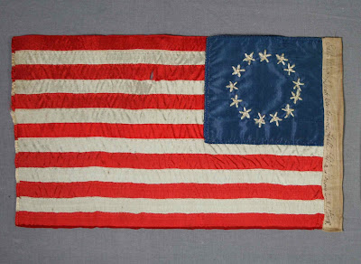 Betsy Ross gift flag, flag conservator, repair, mounting and conservation of historic flags