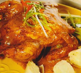Pollo asado con humitas de quinua