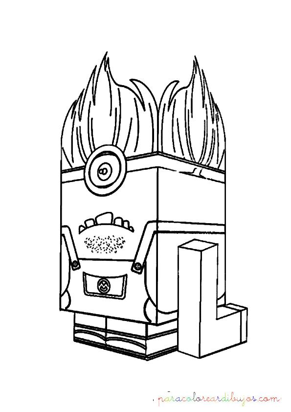 dibujo de minion lego