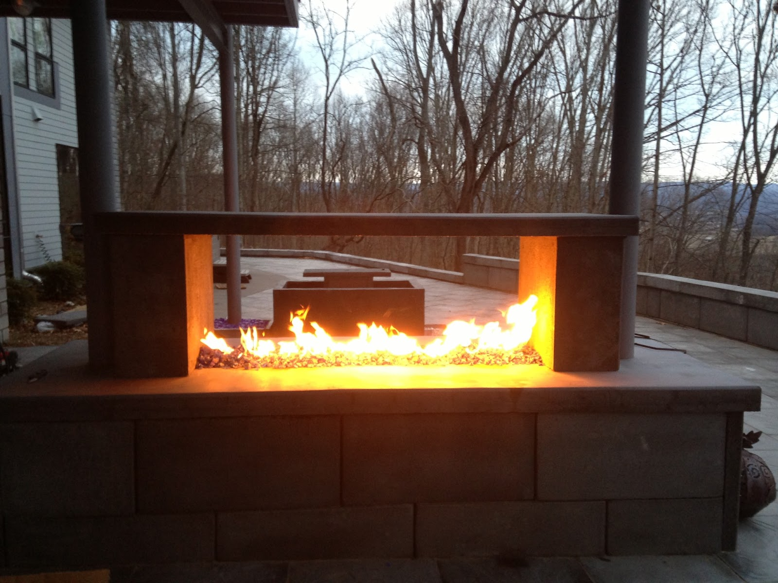 Builderscrete cellulose products a see through outdoor for See thru fireplaces