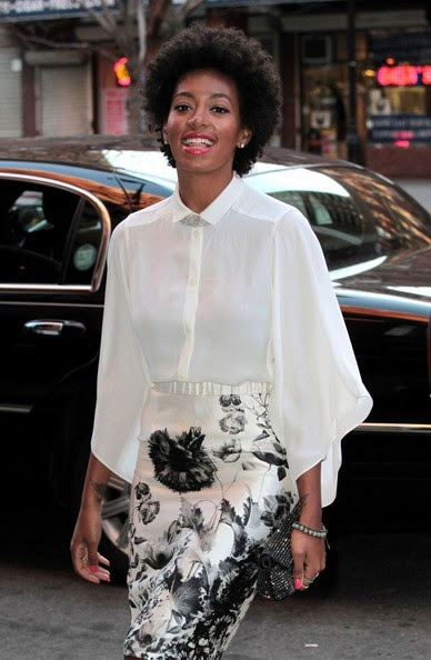 Afrolistas And The City Le Look Du Jour Solange Knowles