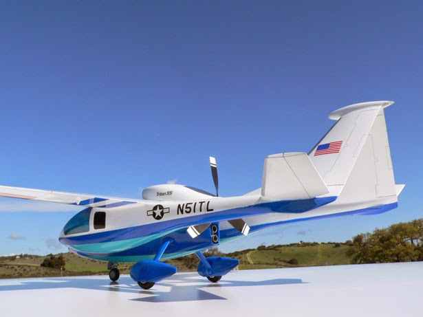 twin passenger pod aircraft - Triton concept aircraft - Bob Smith Industries