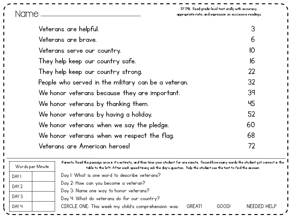 Worksheets 1st Grade Reading Comprehension Worksheets Pdf fluency passages with comprehension questions first grade grade
