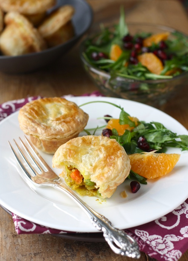 Mini Satay Chicken Pot Pies by SeasonWithSpice.com