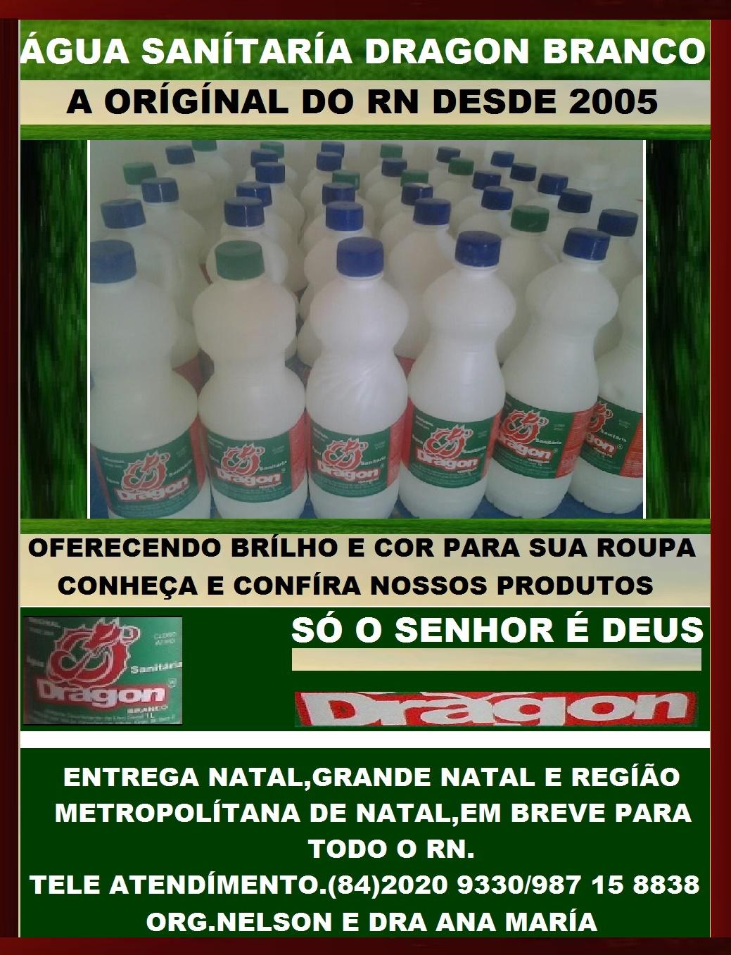 ÁGUA SANÍTÁRIA DRAGON BRANCO NATAL RN