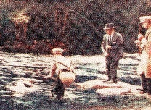 Francisco Franco la pesca del salmón