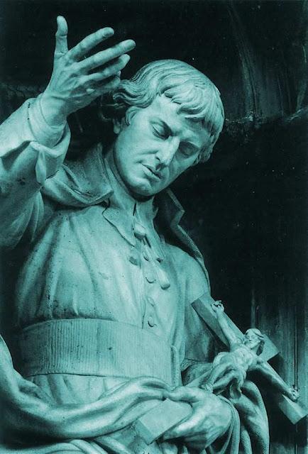 São Luís Maria Grignon de Montfort, estátua na basílica vaticana