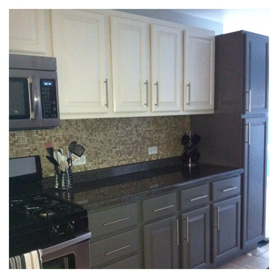 Curly girl kitchen before during after for 2 tone kitchen cabinet ideas