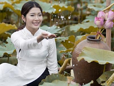 Hoang Hanh With Ao Dai