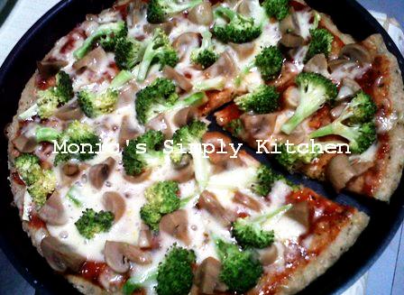 Pizza Sehat : Pizza Oatmeal Jamur & Brokoli