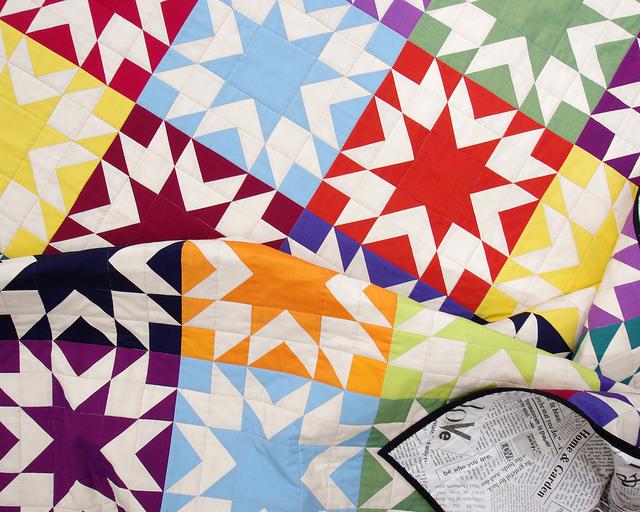 Memories Quilt in Oakshott Colourshott   Pattern available   Red Pepper Quilts 2015