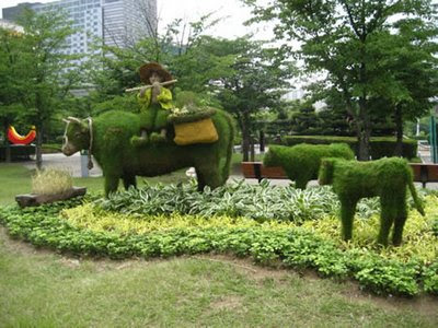 cow made from grass