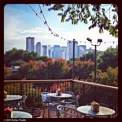 Balcony view of downtown Dallas at Stackhouse